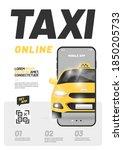 design for online taxi...   Shutterstock .eps vector #1850205733