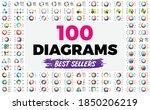 100 circle diagrams....   Shutterstock .eps vector #1850206219