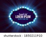 shining retro billboard.... | Shutterstock .eps vector #1850211910
