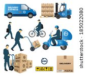 set of delivery and shipment... | Shutterstock .eps vector #185022080