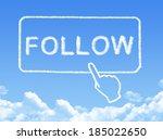 follow message cloud shape | Shutterstock . vector #185022650