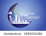 winter city with skyscrapers at ...   Shutterstock .eps vector #1850232286