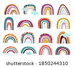 abstract drawing rainbows....   Shutterstock .eps vector #1850244310