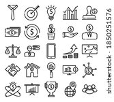 business icons set. simple set... | Shutterstock .eps vector #1850251576