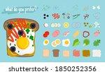 sandwiches elements. cartoon... | Shutterstock .eps vector #1850252356