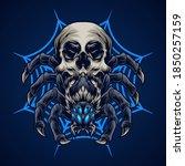 spider skull monster vector... | Shutterstock .eps vector #1850257159