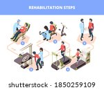 rehabilitation stages. injury... | Shutterstock .eps vector #1850259109