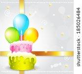 vector colorful birthday... | Shutterstock .eps vector #185026484