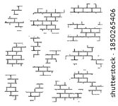 texture of a brick wall.... | Shutterstock .eps vector #1850265406