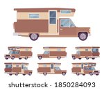 rv camper van car  recreational ... | Shutterstock .eps vector #1850284093