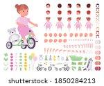 toddler child  little girl... | Shutterstock .eps vector #1850284213