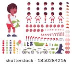 toddler child  little black boy ... | Shutterstock .eps vector #1850284216