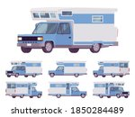 rv camper van car  recreational ... | Shutterstock .eps vector #1850284489