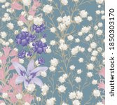 floral wallpaper with big... | Shutterstock .eps vector #1850303170