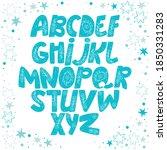 english alphabet. paisley... | Shutterstock .eps vector #1850331283