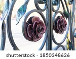 Metal Roses Decorating Forged...