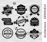 soccer football typography... | Shutterstock .eps vector #185041814