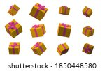 gift boxes differnet views... | Shutterstock . vector #1850448580