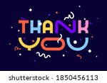 thank you. banner  poster and... | Shutterstock .eps vector #1850456113