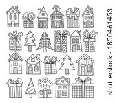collection of winter houses ... | Shutterstock .eps vector #1850461453