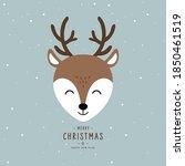 christmas reindeer cute...   Shutterstock .eps vector #1850461519