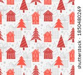 cute vector seamless pattern... | Shutterstock .eps vector #1850480269