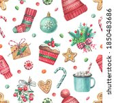 cute seamless pattern with... | Shutterstock . vector #1850483686