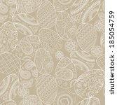 vector easter pattern. eggs... | Shutterstock .eps vector #185054759