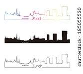 zurich skyline linear style... | Shutterstock .eps vector #185055530