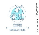 no alcohol and nicotine... | Shutterstock .eps vector #1850571370