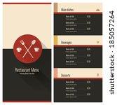 restaurant menu design | Shutterstock .eps vector #185057264