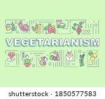vegetarianism word concepts...