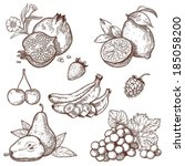 and,background,banana,berries,botany,branch,cherry,crop,delicious,design,dessert,diet,drawing,drawn,drink