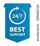 best service and support for... | Shutterstock .eps vector #185060210