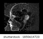 silhouette of a human head made ...   Shutterstock .eps vector #1850614723