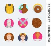 ancient greece set icons stock... | Shutterstock .eps vector #1850628793
