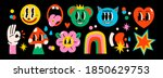 hand drawn abstract funny cute... | Shutterstock .eps vector #1850629753
