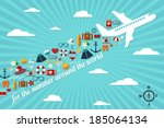 abstract illustration with... | Shutterstock . vector #185064134