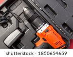 electric screwdriver in the box ... | Shutterstock . vector #1850654659