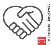 heart handshake line icon  love ...   Shutterstock .eps vector #1850659510
