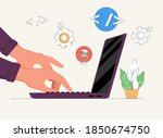 new technologies  a side view... | Shutterstock .eps vector #1850674750