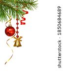 red and golden decorations with ... | Shutterstock . vector #1850684689