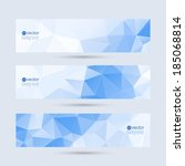 set of vector banners with... | Shutterstock .eps vector #185068814