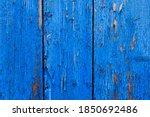 Weathered Blue Wood Background...