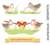 Vector Holiday Birds Set