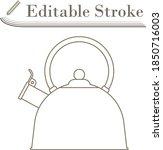 kitchen kettle icon. editable...