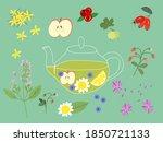 vector illustration of healthy... | Shutterstock .eps vector #1850721133
