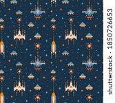 8 bit vintage video game...   Shutterstock .eps vector #1850726653