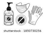 vector black and white... | Shutterstock .eps vector #1850730256