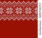 knitwear texture. template with ... | Shutterstock .eps vector #1850740273